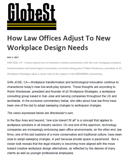 Globe St - a3 Workplace Strategies