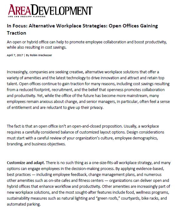 Area Development - a3 Workplace Strategies